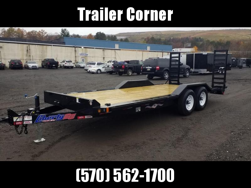 2021 Liberty 7X20 14K KNEE RAMPS Equipment Trailer