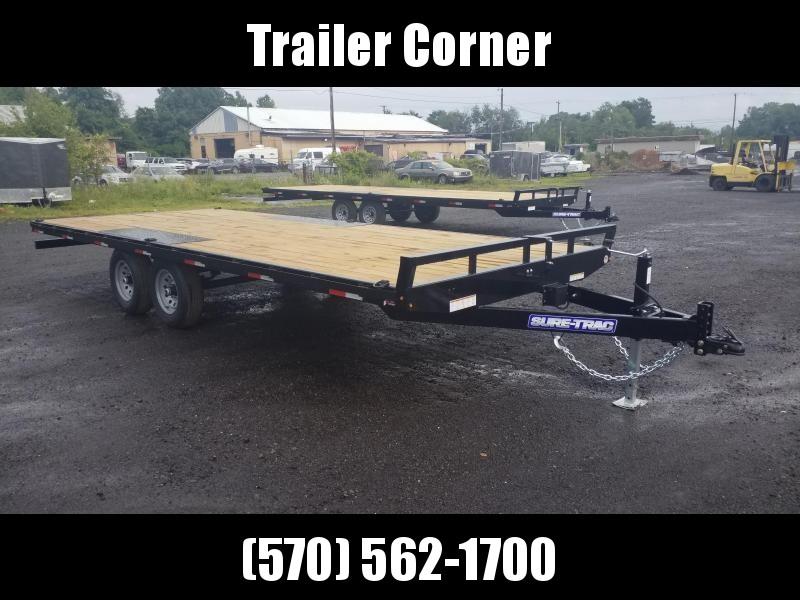 2021 Sure-Trac 101X20 10K DECKOVER - RAMPS Flatbed Trailer