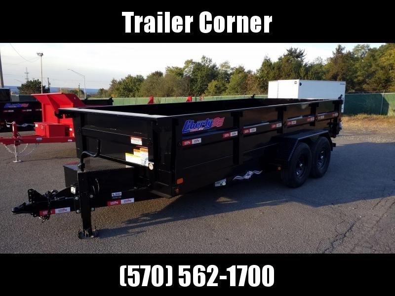 2021 Liberty 7X16 14K SCISSOR - RAMPS Dump Trailer