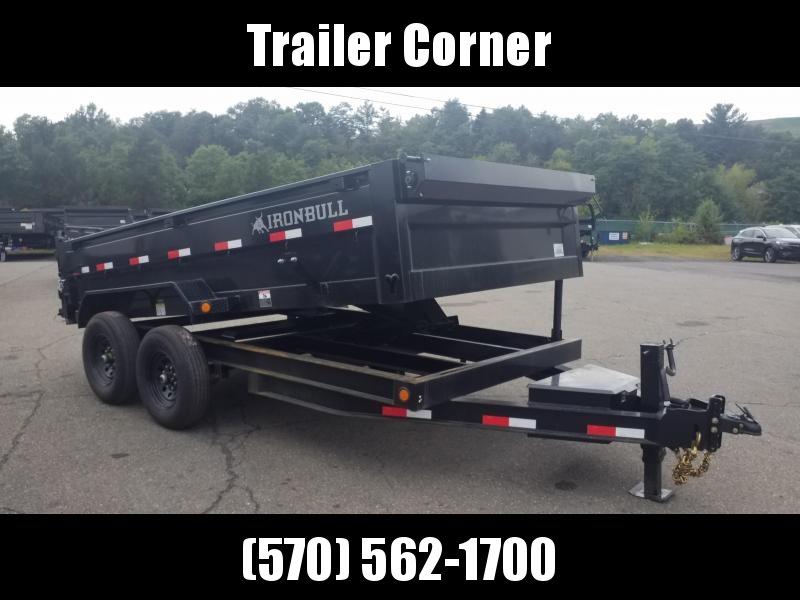 2022 Iron Bull 7X14 14K - SCISSOR - RAMPS - TARP KIT Dump Trailer