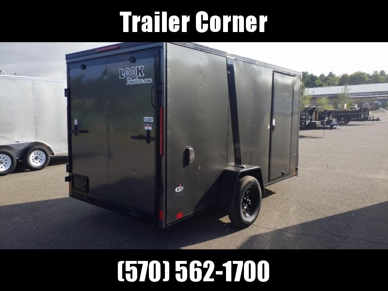 2021 Look Trailers STLC 6X12 RAMP - BLACKED OUT Enclosed Cargo Trailer