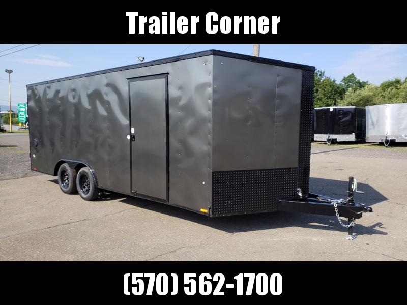 2021 Look Trailers STLC 8.5X20 7K DLX BLACKED OUT Car / Racing Trailer