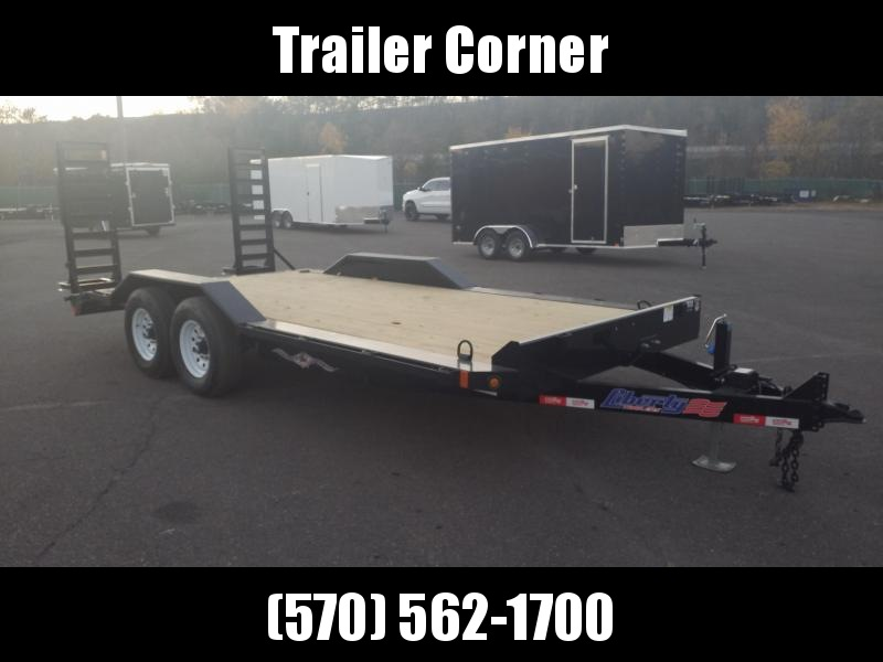2021 Liberty 7X18 14K KNEE RAMPS Equipment Trailer