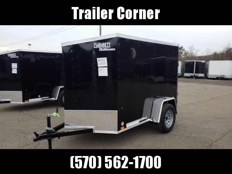 2021 Look Trailers STLC 5X8 RAMP DOOR Enclosed Cargo Trailer