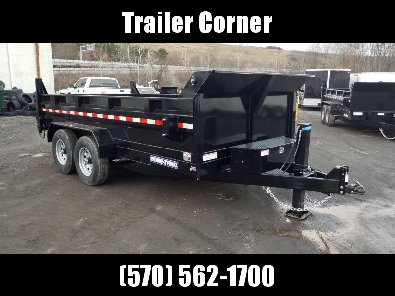 2021 Sure-Trac 7X14 14K DUAL RAM - HYDRAULIC JACK - RAMPS - TARP Dump Trailer