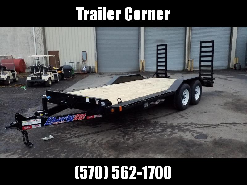 2021 Liberty 7X18 14K KNEE RAMPS - DRIVE OVER FENDERS Equipment Trailer