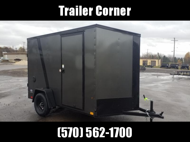 2021 Look Trailers STLC 6X10 - RAMP - EXTRA HEIGHT -  BLACKED OUT Enclosed Cargo Trailer