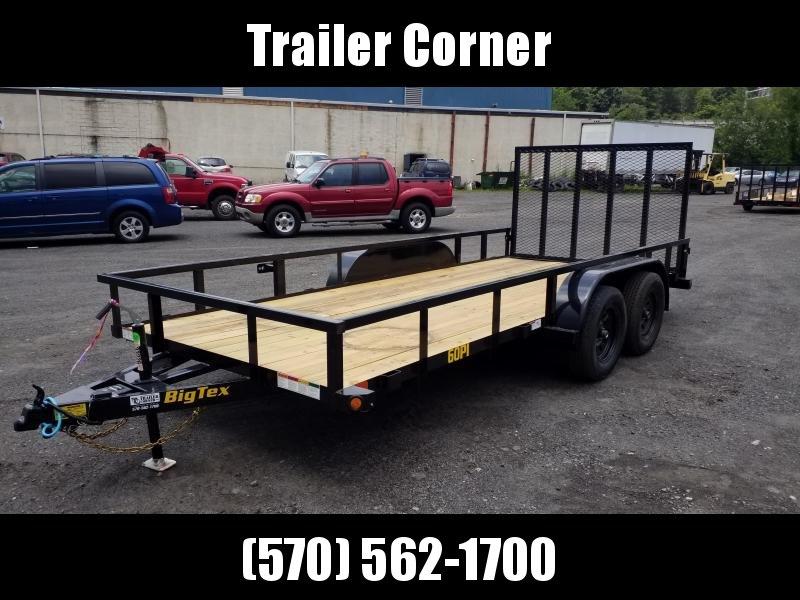 2022 Big Tex Trailers 60PI 77X16 6K - TUBE TOP Utility Trailer