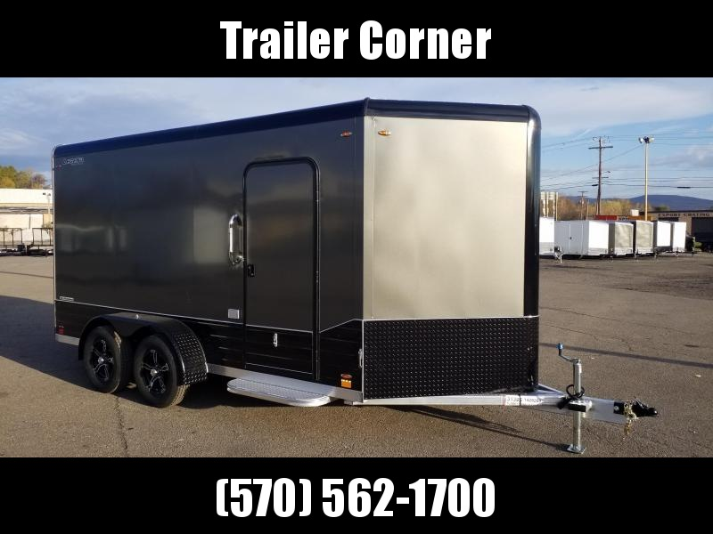 2021 Legend Trailers DVN 7X17 - UTV HEIGHT - BLACKED OUT - ALUMINUM Enclosed Cargo Trailer