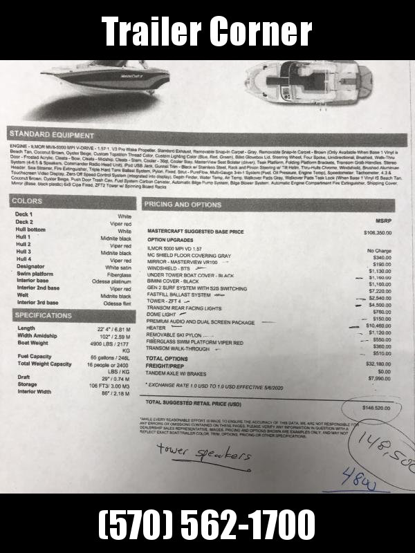 2019 Mastercraft MASTERCRAFT XT22 High Performance Boat