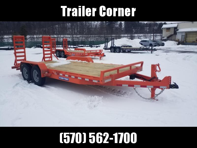 2021 Sure-Trac 7X18 14K KNEE RAMPS Equipment Trailer