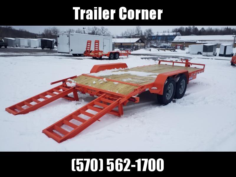2021 Sure-Trac 7X18 14K KNEE RAMPS Equipment Trailer