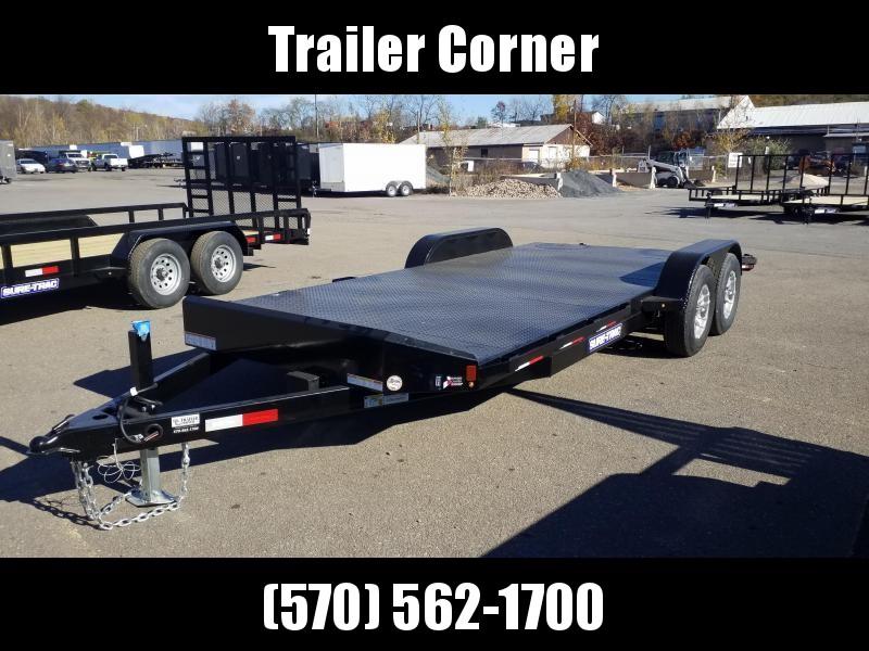 2021 Sure-Trac 7X20 10K STEEL DECK Car / Racing Trailer