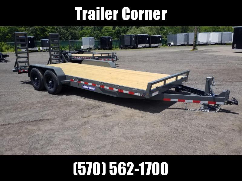 2021 Sure-Trac 7X20 14K KNEE RAMPS Equipment Trailer