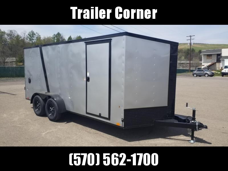 2022 Look Trailers STLC 7X16 - BLACKED OUT - RAMP DOOR Enclosed Cargo Trailer