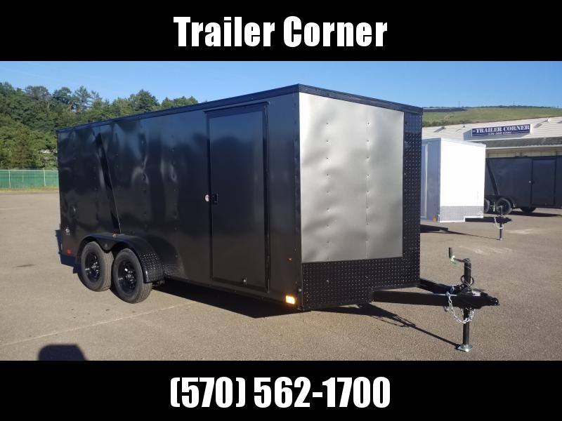 2021 Look Trailers STLC 7X16 RAMP - BLACKED OUT Enclosed Cargo Trailer