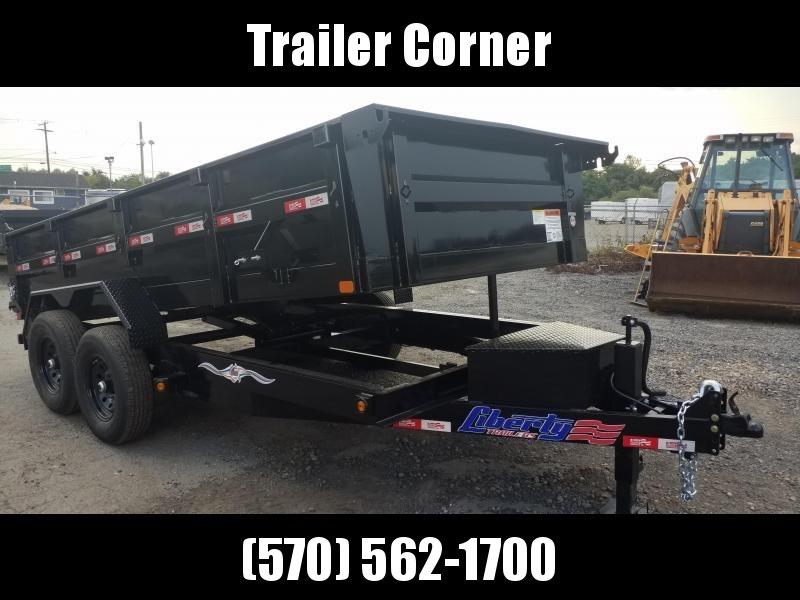 2021 Liberty 7X14 14K - RAMPS Dump Trailer