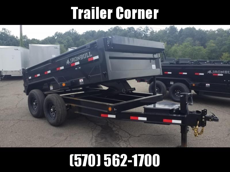 2022 Iron Bull 6X12 - 14K - RAMPS - TARP KIT Dump Trailer