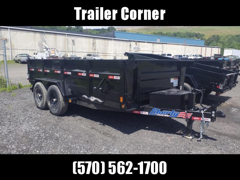 2021 Liberty 7X14 14K - RAMPS - SCISSOR Dump Trailer