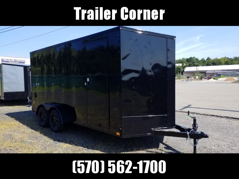 2021 Look Trailers STLC 7X16 UTV HEIGHT - BLACKED OUT Enclosed Cargo Trailer