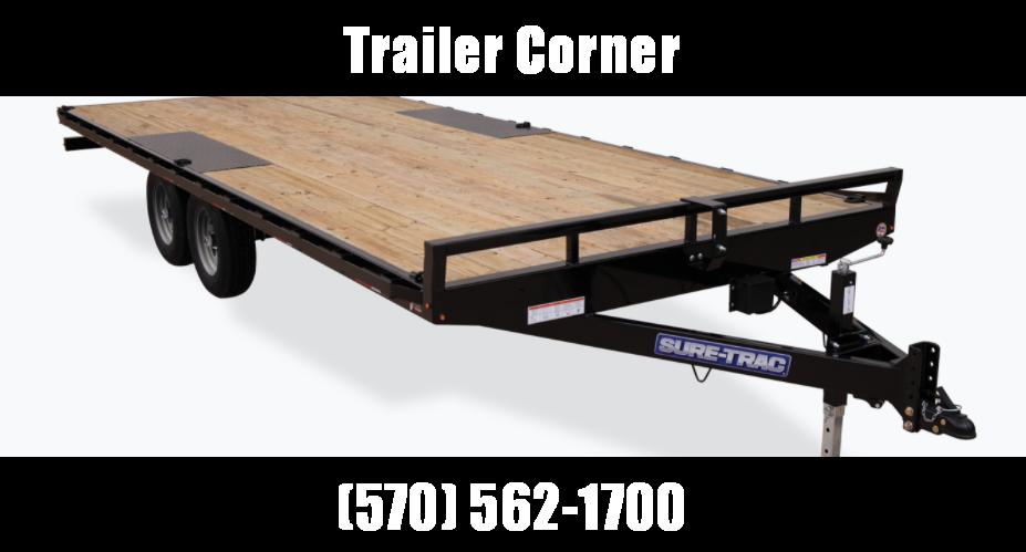 2021 Sure-Trac 8.5 x 24 Low Profile Flat Deck Deckover
