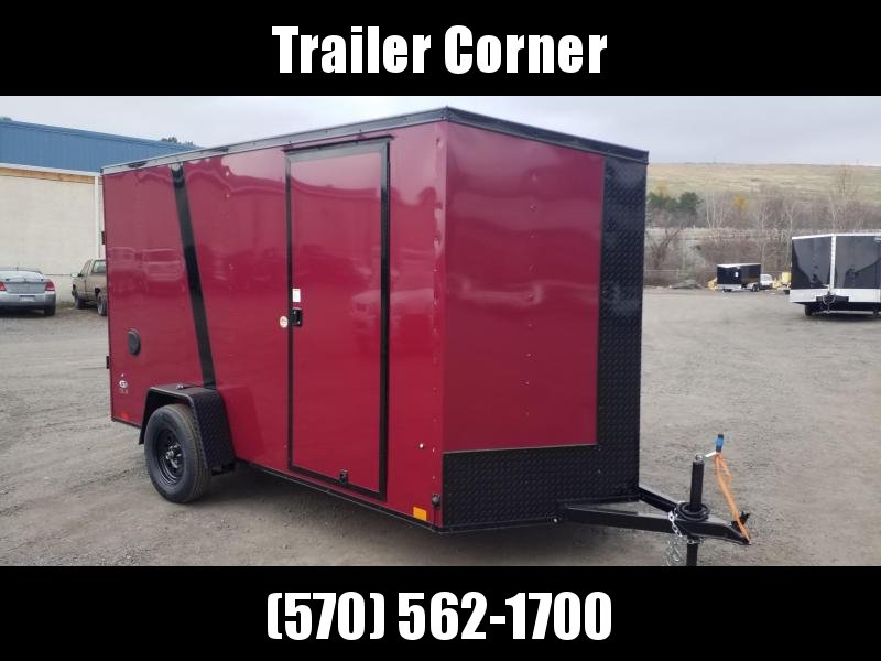 2022 Look Trailers STLC 6X12 - BLACKED OUT - EXTRA HEIGHT - RAMP Enclosed Cargo Trailer