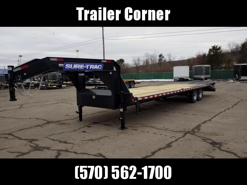 2021 Sure-Trac 15GN 25+5 MEGA RAMPS Flatbed Trailer