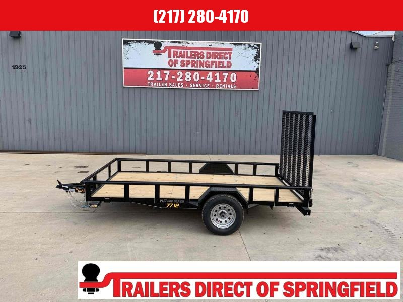 2021 Doolittle 77X12 Pipe Top Utility Trailer 2990 GVWR 5' Mesh Gate w/ Spring Assist LED LIGHTS Radial Tires