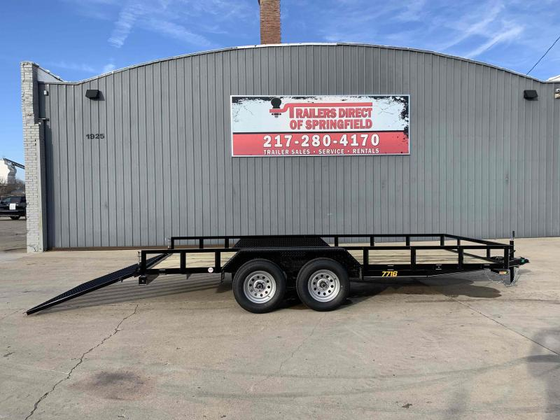 2021 Doolittle 77X16 Rally Sport Utility Trailer 7000 GVWR Double Electric Brakes 5' Mesh Gate