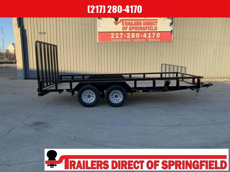 2021 Doolittle 77X16 Pipe Top Utility Trailer 7000 GVWR 5' Mesh Gate w/ Spring Assist LED LIGHTS Radial Tires Double Electric Brakes