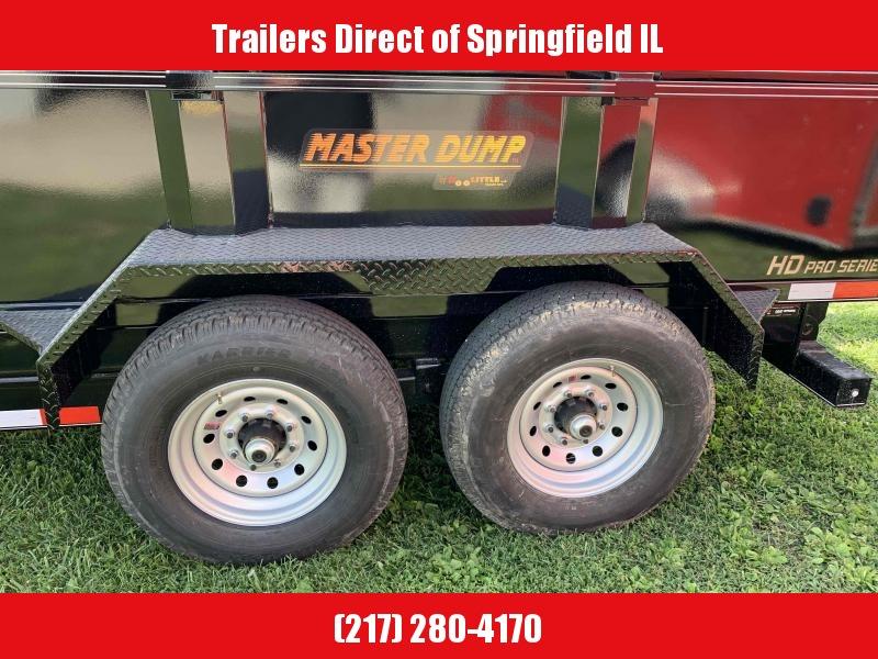 2021 Doolittle 82X12 Dump Trailer 14K GVWR SS Ramps Wireless Remote Spare Tire Carrier
