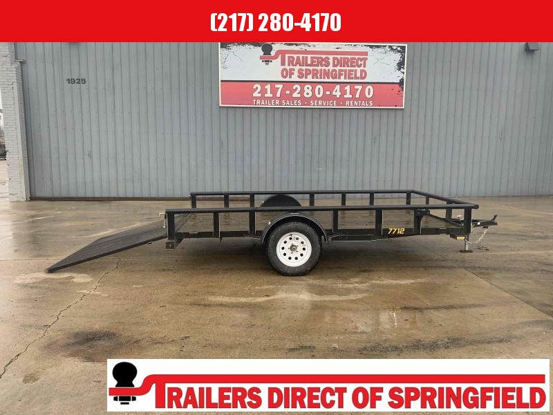 2016 Doolittle 77X12 Pipe Top Utility Trailer 2990 GVWR Mesh Gate
