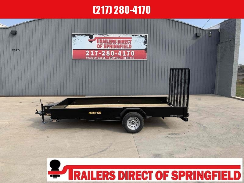 2021 Doolittle 84X14 Steel Side Utility Trailer 2990 GVWR 5' Mesh Gate w/ Spring Assist LED Lights RADIAL Tires
