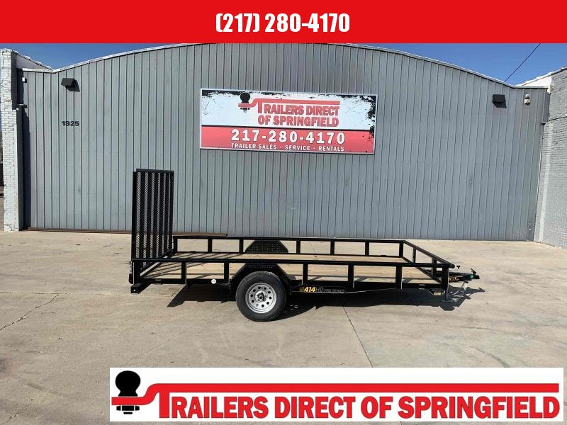 2021 Doolittle 84X14 Utility Trailer 2990 Lb GVWR 5' Mesh Gate w/ Spring Assist LED Lights RADIAL Tires
