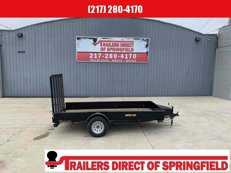 2021 Doolittle 66X12 Steel Side Utility Trailer 2990 GVWR 5' Mesh Gate w/ Spring Assist LED Lights Radial Tires