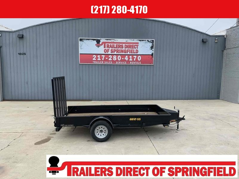 2021 Doolittle 66X12 Steel Side Utility Trailer 2990 GVWR 5' Mesh Gate w/ Spring Assist LED Lights Radial Tires