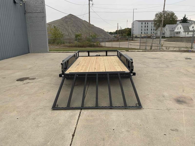 2021 Doolittle 84X12 Pipe Top 7000 LB GVWR 5' Mesh Gate Utility Trailer