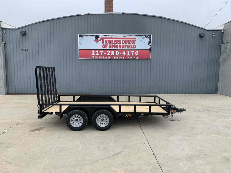 2021 77X14 Pipe Top Utility Trailer Dare to Compare!