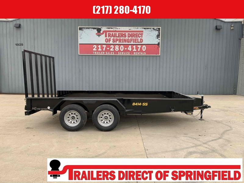 2021 Doolittle 84X14 Steel Side Utility Trailer 7000 GVWR 5' Mesh Gate w/ Spring Assist LED Lights Radial Tires Double Electric Brakes