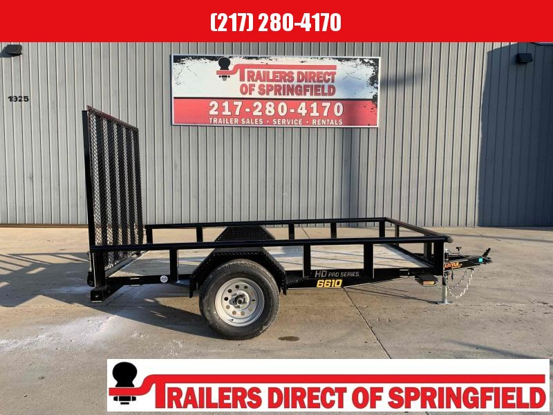 2021 Doolittle 66X10 Pipe Top Utility Trailer 2990 GVWR 5' Mesh Gate w/ Spring Assist LED Lights Radial Tires