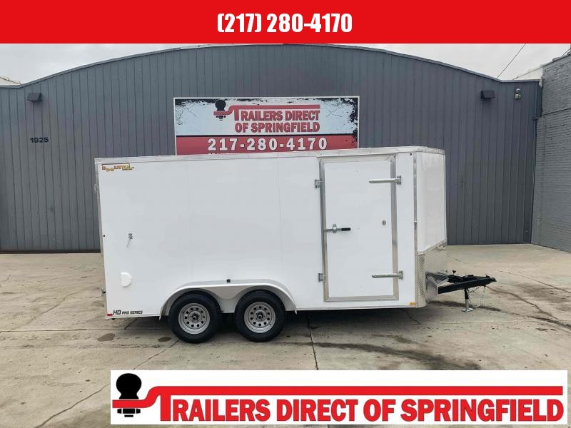 "2021 Doolittle 7X14 Cargo Trailer 7000 GVWR 30"" Stoneguard 37"" Side Door LED Lights Radial Tires"