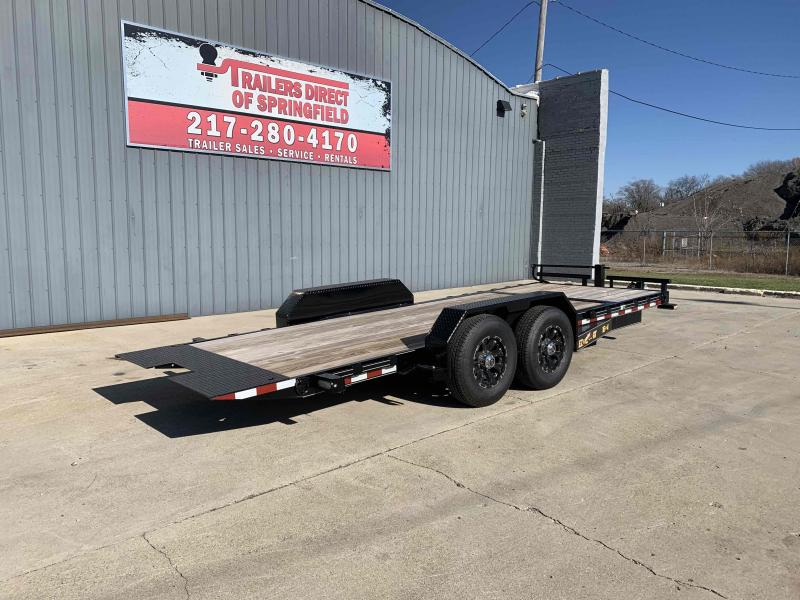 2020 Doolittle 82X20 EZ Loader GT Equipment Trailer 14K GVWR Drop Leg Jack Aluminum Wheel Upgrade Double Electric Brakes