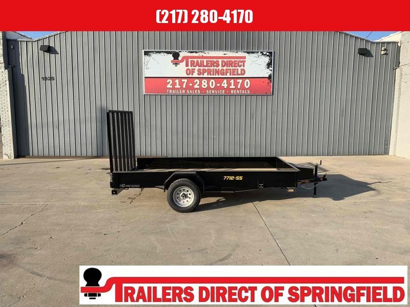 2021 Doolittle 77X12 Steel Side Utility Trailer 2990 GVWR 5' Mesh Gate w/ Spring Assist LED Lights Radial Tires