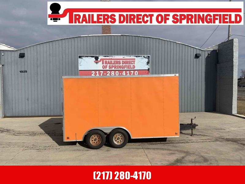 2014 Cross Enclosed Cargo Trailer Barn Doors!