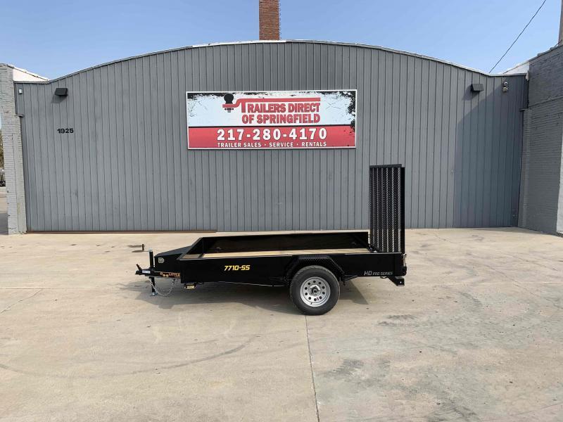 2021 Doolittle 77X10 Steel Side Utility Trailer 2990 GVWR 5' Mesh Gate