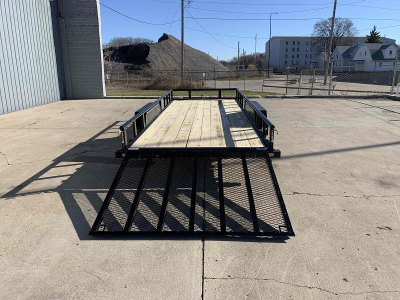 2021 Doolittle 77X18 Pipe Top Utility Trailer 7000 GVWR 5' Mesh Gate w/ Spring Assist LED LIGHTS RADIAL TIRES Double Brakes