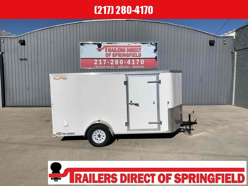"2021 Doolittle 6X12 Cargo Trailer 2990 GVWR Drop Spring Axle 30"" Stoneguard Ramp Door w/ Spring Assist RV Latch w/ Key Entry"