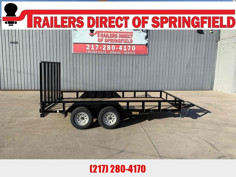 2021 Doolittle 84X14 Pipe Top Utility Trailer 7K GVWR 5' Mesh Gate Double Electric Brakes