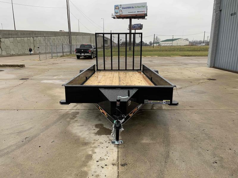 2020 Doolittle 77X14 Steel Side Utility Trailer 2990 GVWR Spare Tire Carrier