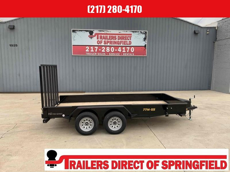 2021 Doolittle 77X14 Steel Side Utility Trailer 7K GVWR 5' Mesh Gate Spare Tire Carrier